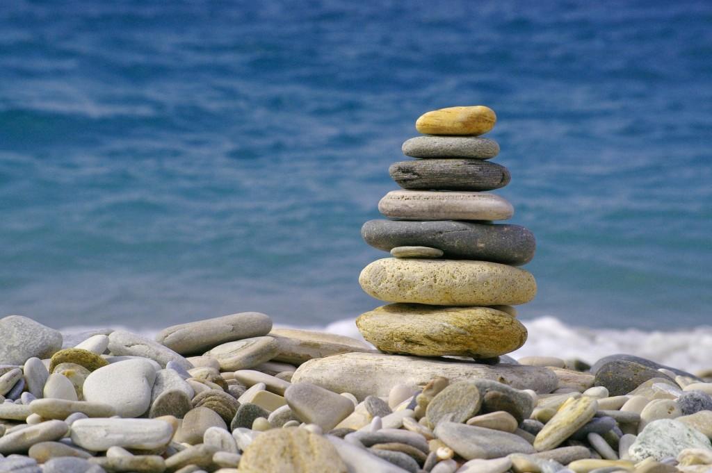 Steine erinnern an den Wanderer