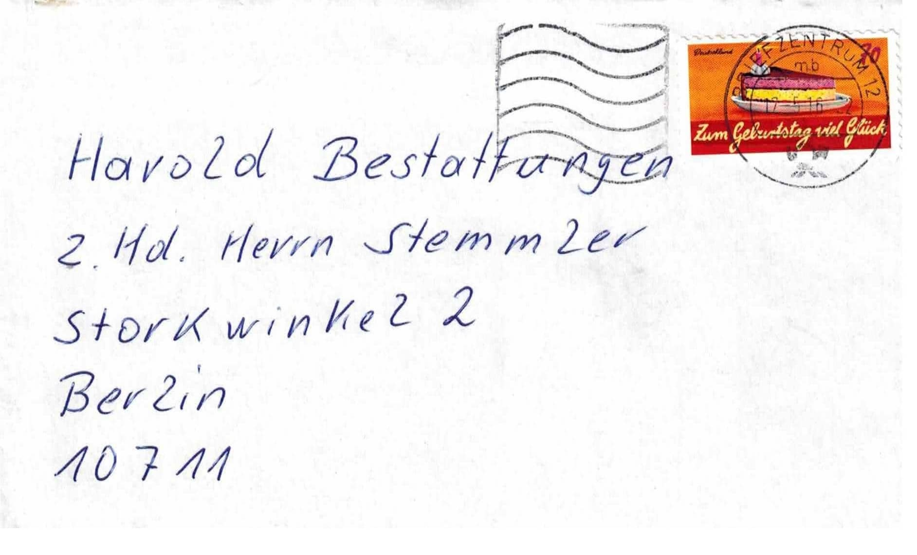 Danksagung Starke Brief