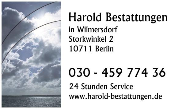 Harold Bestattungen in WIlmersdorf